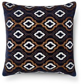 "Threshold Dark Blue Velvet Metallic Embroidered Square Throw Pillow (18""x18"