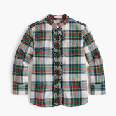 J.Crew Girls' ruffle button-up in festive plaid