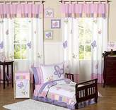 JoJo Designs Pink and Purple Butterfly Collection Toddler Bedding 5 pc set by Sweet