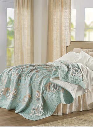 Soft Surroundings Isabel Embroidered Quilt