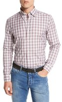 Ermenegildo Zegna Check Cotton Sport Shirt, Red/Blue Check