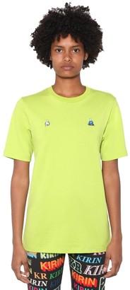 Kirin Front Embroidered Cotton Jersey T-Shirt