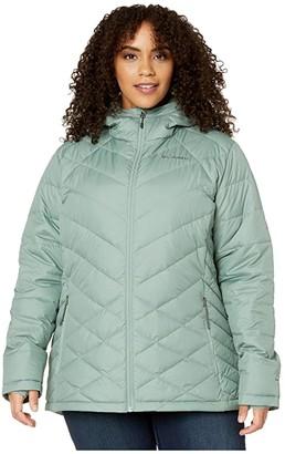 Columbia Plus Size Heavenly Hooded Jacket (Black) Women's Coat
