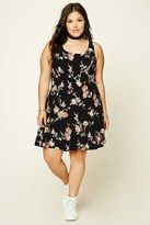 Forever 21 FOREVER 21+ Plus Size Floral Print Dress