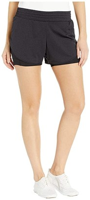 Brooks Rep 3 2-In-1 Shorts (Black) Women's Shorts