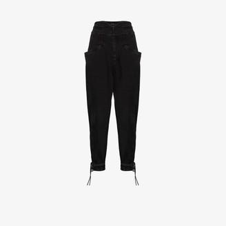 Isabel Marant Nubaia high waist straight leg jeans
