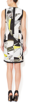 Helmut Lang Cubist Sheath Dress with Leather Trim