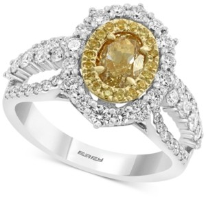 Effy Hematian Diamond Halo Ring (2-1/8 ct. t.w.) in 18k Gold & White Gold