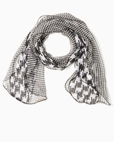 Charming charlie Polka dot houndstooth chiffon scarf