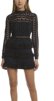 Self-Portrait High Neck Star Lace Paneled Dress
