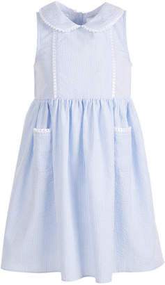 Good Lad Little Girls Seersucker Peter-Pan Collar Dress