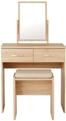 Peru Dressing Table, Stool and Mirror Set