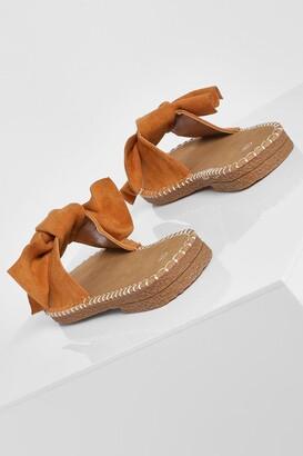 boohoo Bow Espadrille Sandal