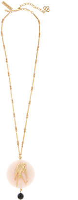 Oscar de la Renta Swallow-Stone Long Pendant Necklace