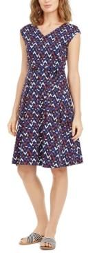 Max Mara Printed Tie-Waist Dress