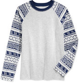Epic Threads Diamond Stripe Raglan-Style T-Shirt, Boys, Only at Macy's