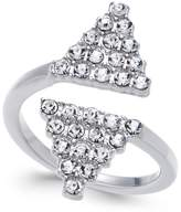INC International Concepts I.N.C. Silver-Tone Crystal Geometric Wrap Ring, Created for Macy's