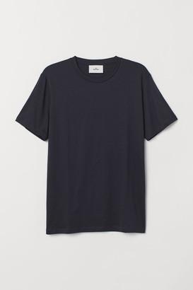 H&M Cotton and Silk T-shirt - Blue