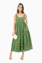 Odeeh Palm Green Maxi Dress