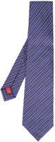 Isaia diagonal striped tie