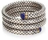 John Hardy Batu Dot Lapis Lazuli, 18K Yellow Gold & Sterling Silver Triple Coil Bracelet