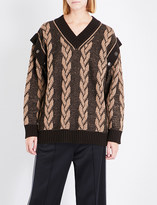 Marc Jacobs Oversized knitted cotton and cashmere-blend jumper