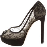 Christian Dior Lace Platform Pumps