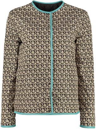 Salvatore Ferragamo Quilted Jacket With Snaps