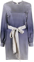 Valentino logo stripe belted dress