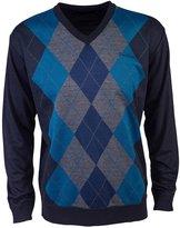 Pierre Cardin Mens New Season V-Neck Argyle Knitted Jumper