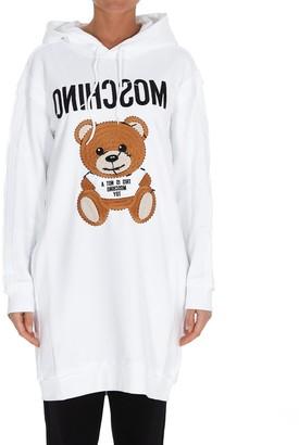 Moschino Teddy Embroidery Hoodie Dress