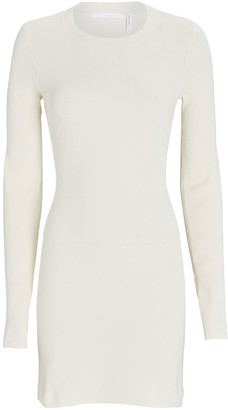 Helmut Lang Rib Knit Long Sleeve Mini Dress
