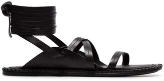Ann Demeulemeester black lace-up leather sandals