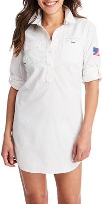 Vineyard Vines Seersucker Button-Up Shirtdress