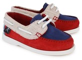 Hackett Colour Block Suede Boat Shoe