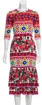 Dolce & Gabbana 2017 Mambo Printed Silk Dress