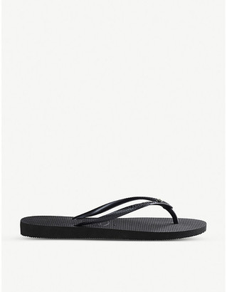 Havaianas Slim Crystal Glamour rubber flip-flops