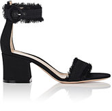 Gianvito Rossi Women's Portofino Fringed Denim Sandals