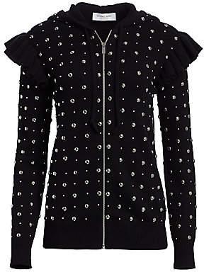 Michael Kors Women's Studded Ruffle Cashmere Knit Jacket