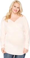 Motherhood Plus Size Surplice Neckline Maternity Top