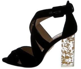 Charlotte Olympia Velvet Apollo 100 Sandals
