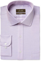Tasso Elba Men's Classic-Fit Non-Iron Lavender Houndstooth Dress Shirt, Only at Macy's