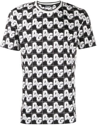 Dolce & Gabbana all-over logo print T-shirt