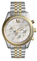 Michael Kors Mens Two-Tone Lexington Chronograph Watch
