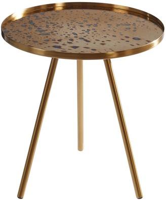 Premier Housewares Corra Lamp Table- Gold