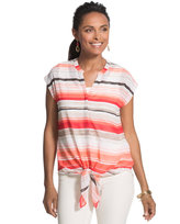 Chico's Cassandra Red-Striped Top