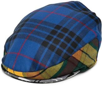 Comme des Garçons Shirt Mixed-Check Wool Cap