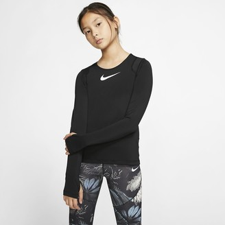 Nike Big Kids' (Girls') Long-Sleeve Top Pro