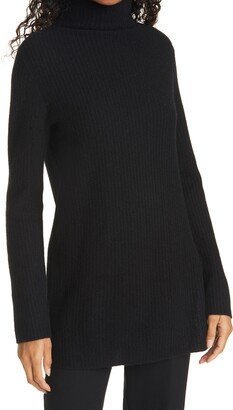 Vince Cashmere Turtleneck Tunic Sweater