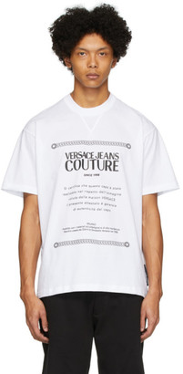 Versace White Warranty Label T-Shirt